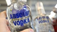 A bottle of Absolut vodka in London in 2013. Photo: Bloomberg/Getty Images/Chris Ratcliffe