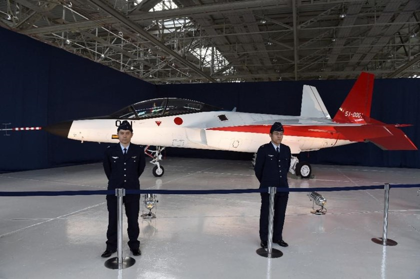 The Japanese defence ministry acquisition agency showed off the domestically developed, radar-dodging X-2 fighter at a regional airport near the central city of Komaki. Photo: AFP/Toshifumi Kitamura
