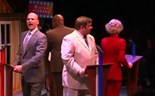 Actors portray Iowa caucus frenzy in musical