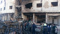 Syria peace talks hit trouble after Damascus blast kills 60