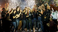 Thousands of fans celebrate Germany's handball victory