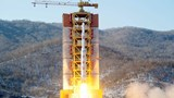 North Korean leader watches rocket launch: state media