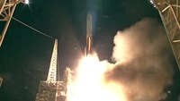Delta 4 rocket lifts off