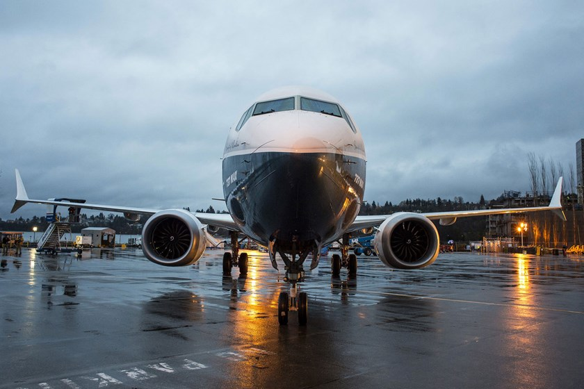 The Boeing Co. 737 MAX. Photo: Bloomberg/David Ryder