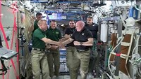 Change of command on space station