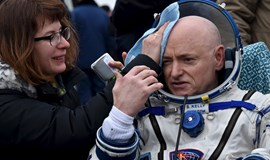 Space station astronauts back on terra firma