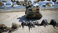 U.S., South Korea conduct a joint amphibious landing drill