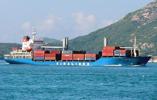 A Vinalines cargo ship at sea. Photo credit: Vinalines