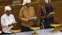 Myanmar president-elect sworn in