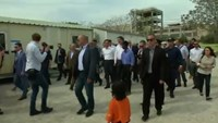 EU ministers visit Greek migrant camp