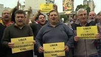 Taxi drivers v. Uber protests spread to Argentina