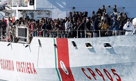 E.U. says migrant traffic down as 800 rescued in one day