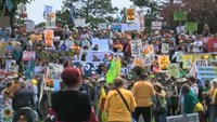 Climate activists across US protest fossil fuels