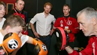 Britain's Prince Harry comes out swinging for boxing