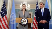 Angelina Jolie joins John Kerry on World Refugee Day