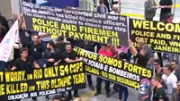 Police and firefighters in Rio pay protest