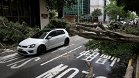 Typhoon hits China, shuts Hong Kong