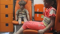 Gripping video of a child pulled from the rubble in Syria