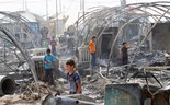 Fire tears through refugee camp in Iraq