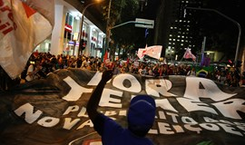 Protesters decry Rousseff impeachment trial