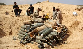 Clearing explosives left behind by Islamic State