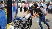 Authorities, businesses reluctant about wheelchair-friendly buses