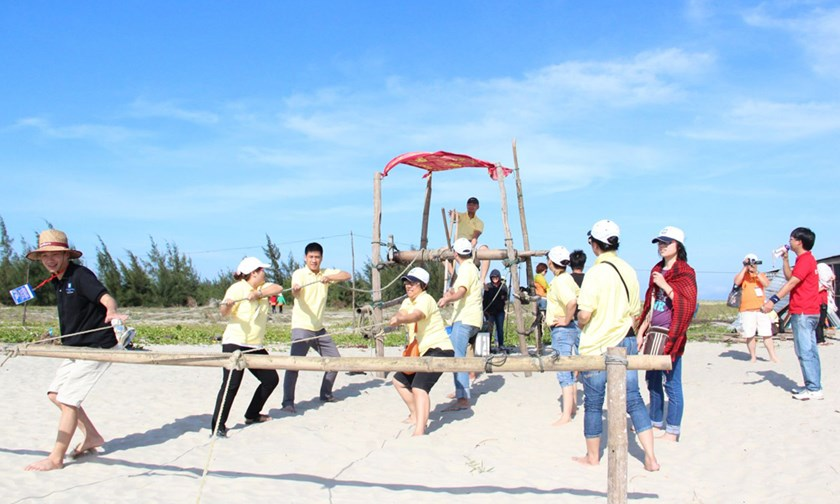 Team-building is common type of events tourism in Vietnam. File photo