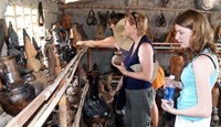 Foreign tourists at Bau Truc ceramics village in the central province of Ninh Thuan. File photo