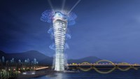 A sketch of the Marina Lighthouse, a hotel complex that was slated for construction in the central city of Danang's Han River. Photo: Nguyen Tu