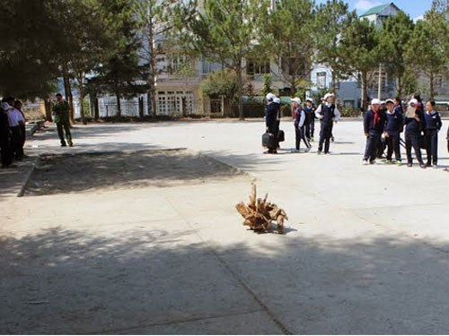 The playground of Lam Son Secondary School in the central highlands town of Da Lat, where a 14-year-old student died mysteriously during a PE class on January 13, 2015. Photo: Lam Vien