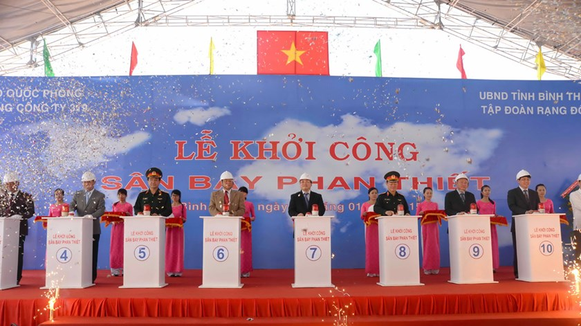 The groundbreaking ceremony of Phan Thiet Airport in the central province of Binh Thuan on January 18. Photo: Diep Duc Minh