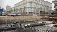 The construction site of HCMC's first subway in District 1. Photo: Mai Vong