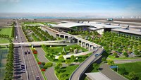 A digital rendering of the planned Long Thanh Airport in the southern province of Dong Nai, around 40 kilometers to the northeast of Ho Chi Minh City. File photo