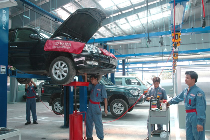 A Toyota factory in Vietnam. Photo: Diep Duc Minh