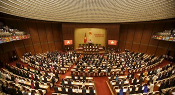 A general view of the Vietnam National Assembly (Parliament) is seen during the opening ceremony of its 2015 spring session in Hanoi May 20, 2015. Photo: Reuters