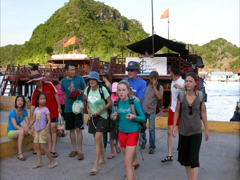 Foreign tourists in the northern city of Hai Phong. Photo credit: baohaiphong
