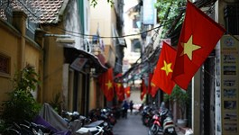 Hanoi, in the hours before National Day celebration