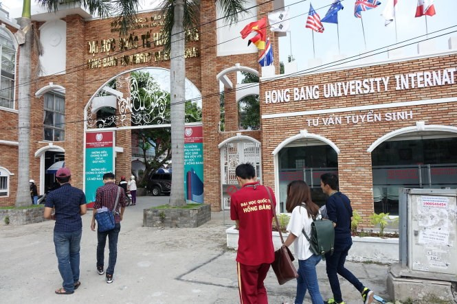 Ho Chi Minh City-based Hong Bang University is one of the latest private-owned higher-education institution to be taken over in Vietnam. Photo credit: Tuoi Tre