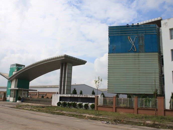 A $197-million garment factory in the northern province of Ninh Binh is abandoned by its foreign investors who fled the country. Photo: Dinh Dung