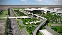 A rendering of Long Thanh Airport in the southern province of Dong Nai. File photo