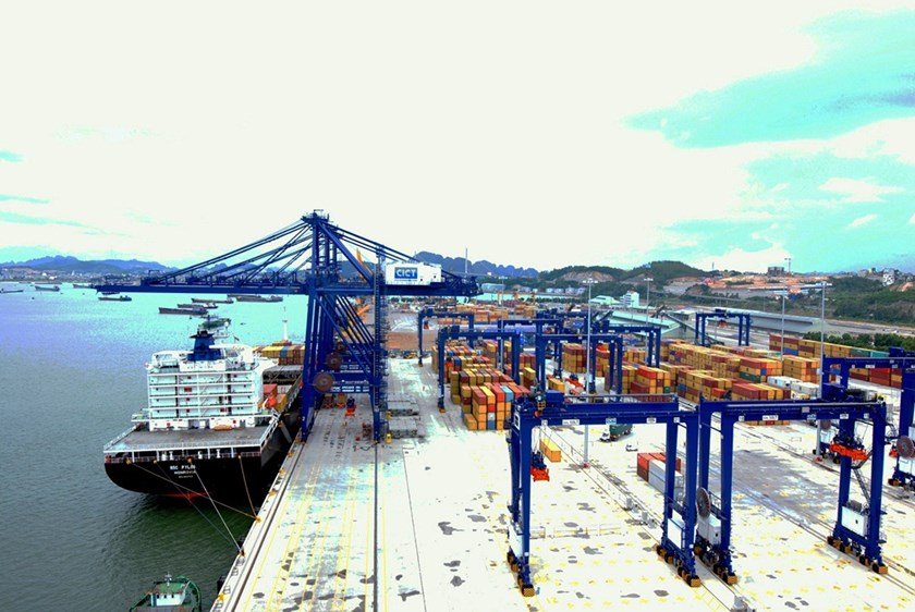 Cai Lan International Container Terminal, a seaport invested by Vinalines and US-owned SSA Holdings International Vietnam in the northern province of Quang Ninh. Photo credit: Vietnam Seaports Association