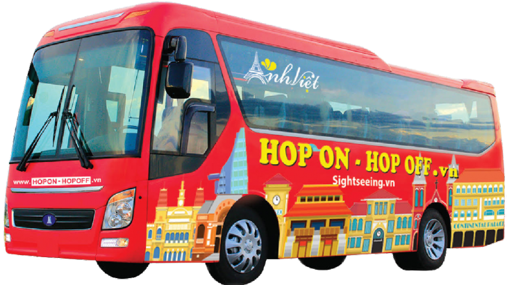 Hop-on hop-off bus service is now available in Ho Chi Minh City. Photo credit: Anh Viet Media TV & Tourist