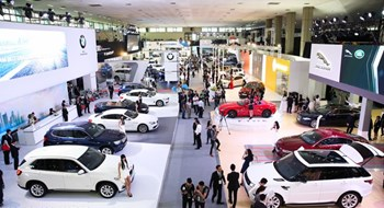 An automobile exhibition in Hanoi in October, 2015. Photo: Thai Nguyen