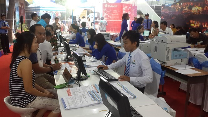 A tourism exhibition in Ho Chi Minh City. Photo: N.Tran Tam