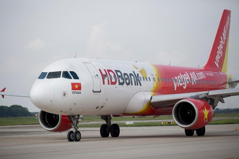 A file photo a low-cost carrier Vietjet Air airplane. Photo: Bloomberg