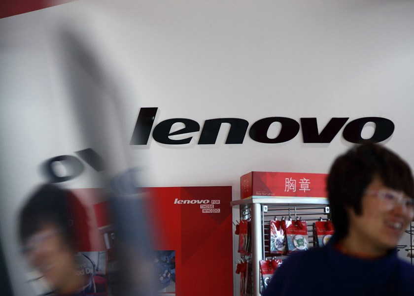 A file photo of Lenovo logo displayed in China. Photo: Bloomberg