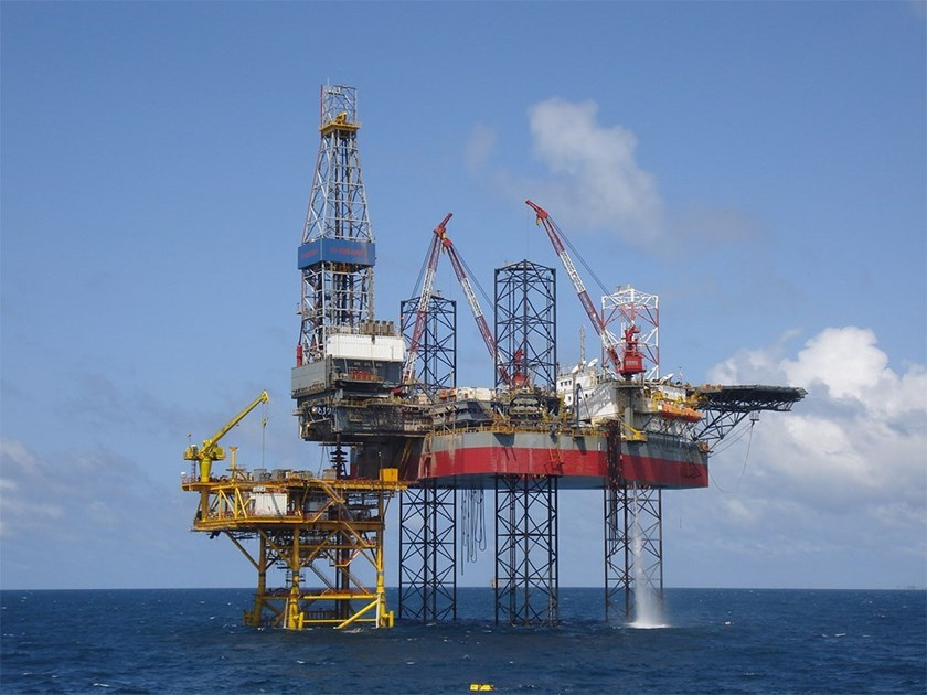 A file photo of offshore oil drilling of PetroVietnam