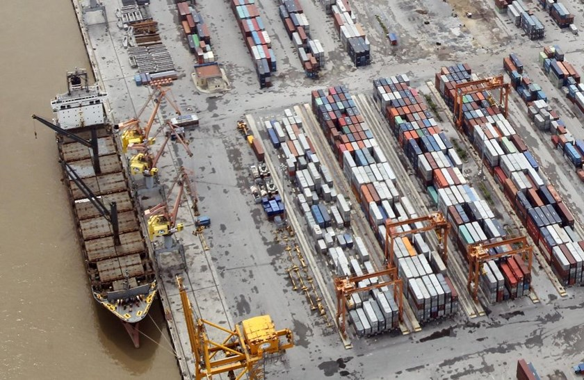 A file photo of containers at Dinh Vu Port in the northern city of Hai Phong. Photo: Reuters