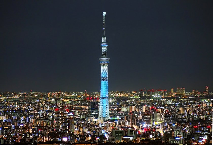 A file photo of Japan's Tokyo Skytree, which currently holds the world record at 634 meters