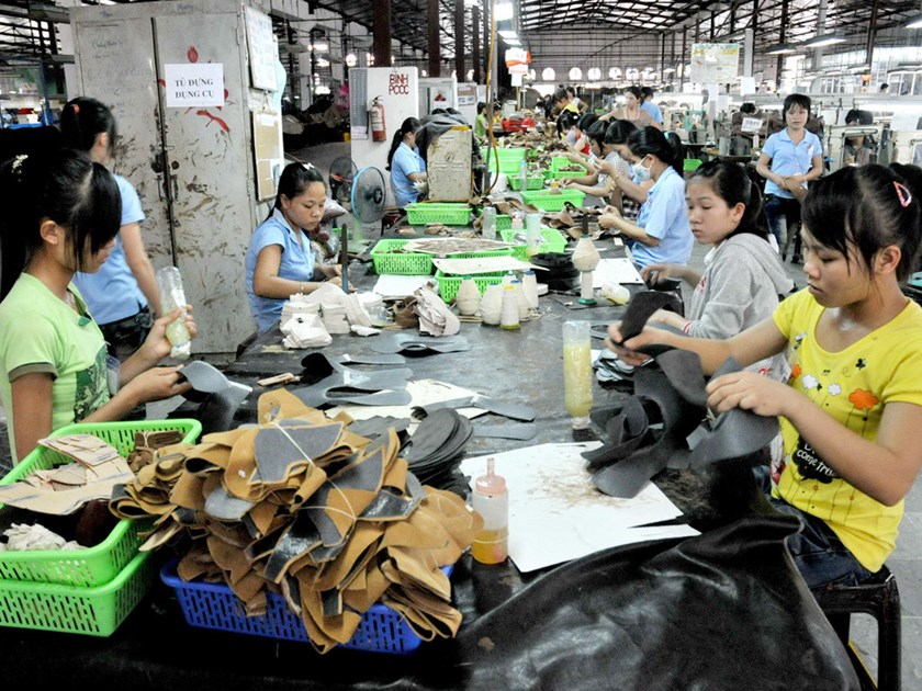A shoe factory in Vietnam. Photo: Diep Duc Minh